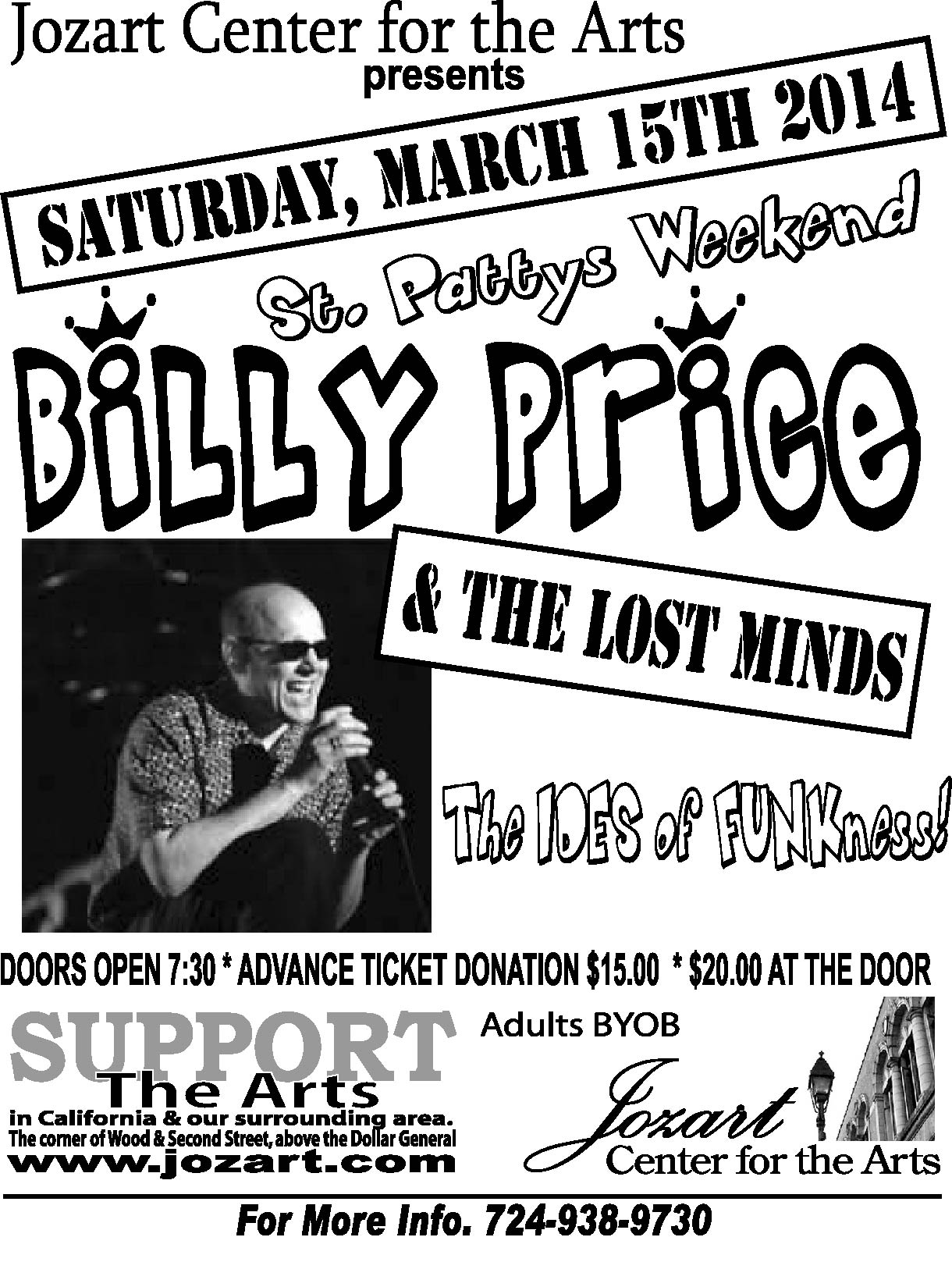 Billy Price poster outlines